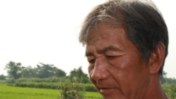 A rice farmer in Laguna province, in the Philippines