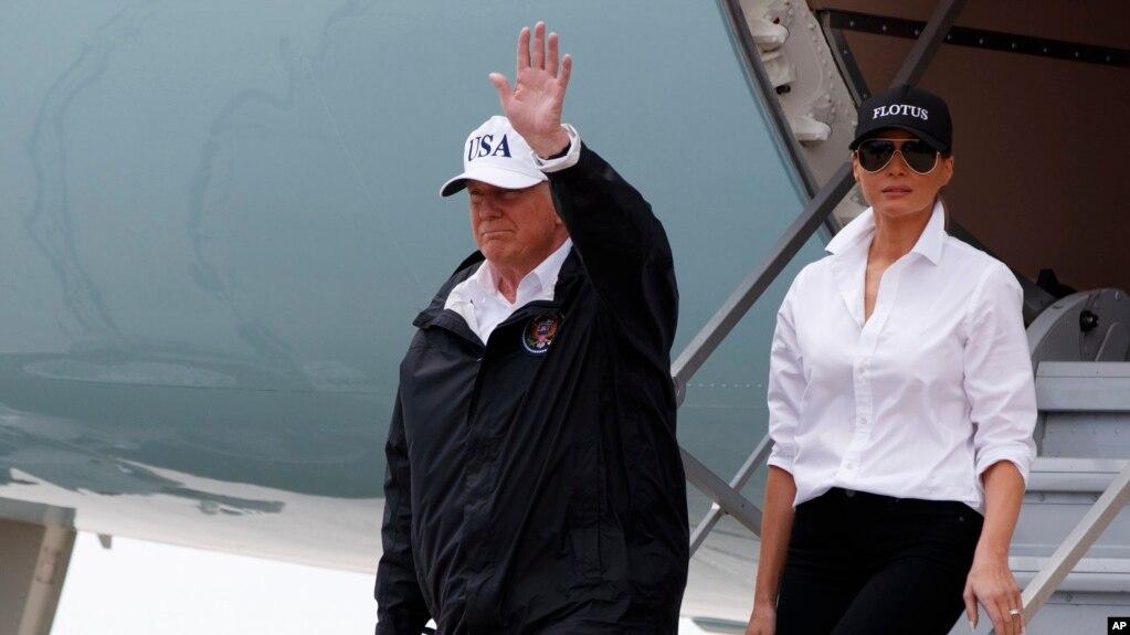 Presidenti Trump dhe Zonja e Parë në Teksas