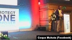 Coque Mukuta, conferência de Front Line Defenders, em Dublin