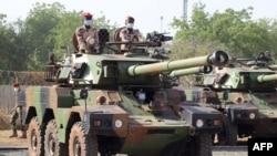 Soldados chadianos em N'Djamena, Chade , 23 Janeiro 2021.