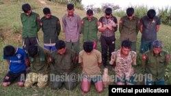 ဖမ္းဆီးခံသည္ဆိုသည့္ ျမန္မာစစ္သည္ ၁၃ ဦး (သတင္းဓာတ္ပံု - arakan army website)