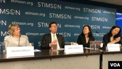 華盛頓智庫史汀生中心20-19年9月25日舉辦香港前途與危機座談會(美國之音鍾辰芳拍攝)