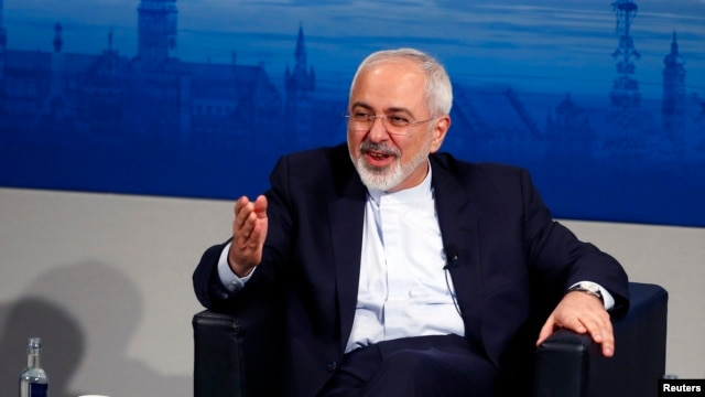 "FILE - Iranian Foreign Minister Foreign Minister, pictured at the 2015 Munich Security Conference, says his country and Saudi Arabia ""must overcome years of strained relations and work for stability in Syria and the Middle East."""