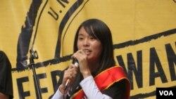 2012年台灣聯合國小姐莊慧瑜 (美國之音宋德成拍攝)