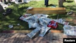 土耳其苏鲁克发生的自杀炸弹袭击的现场 (2015年7月20日)