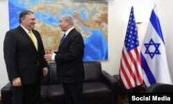 Mayk Pompeo və Benyamin Netanyahu