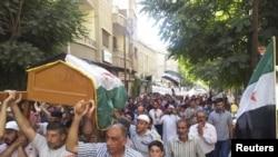 大馬士革市郊附近仍有大批市民抗議遊行