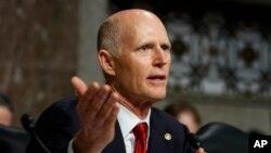 资料图:来自佛罗里达州的共和党联邦参议员里克·斯科特