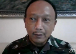 Wakil Asisten Operasi Panglima TNI Marsekal Pertama TNI Tedy Rizalihadi. (Foto: VOA/Ghita Intan)