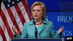 Bivša državna sekretarka SAD, Hilari Klinton na skupu u Institutu Brukings, Vašington 9. septembar 2015.