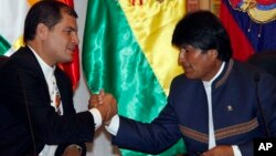 Los presidente Rafael Correa y Evo Morales dijeron que solo van a esperar hasta la asamblea de la OEA el año próximo.