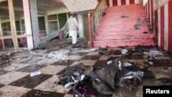 Poprište samoubilačkog napada u Samanganu
