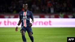 Idrissa Gueye lors d'un match entre le PSG et Toulouse au Parc des Princes, France, le 25 aout 2019.
