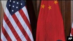 美国财长盖特纳和中国副总理王歧山