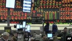 人们广泛担忧美国信用评级遭降级。图为芝加哥交易委员会。