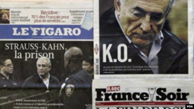 Dominik Stros Kan na naslovnim stranicama francuskih dnevnika