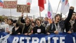ادامه اعتراض فرانسویان به برنامه دولت برای بالا بردن سن بازنشستگی