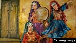 یکی از نقاشی های ناجیه هاشمی