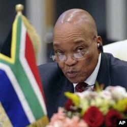 Le président sud-africain President Jacob Zuma, au sommet Africa-Union européenne de Tripoli, en novembre 2010