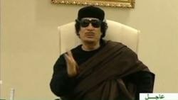 آقای قذافی در یک پیام صوتی، شورش در لیبی را تلاشی دارای اهداف شوم خواند که توسط «خیانتکاران» و «موش ها» صورت گرفته است