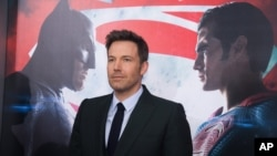 "Aktor Ben Affleck menghadiri pemutaran perdana ""Batman v Superman: Dawn of Justice"" di Radio City Music Hall, New York hari Minggu (20/3)."