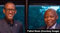 Le président Paul Kagame du Rwanda aux côtés de Vital Kamerhe, à Kigali, Rwanda, 12 mars 2019. (Fatshi News)