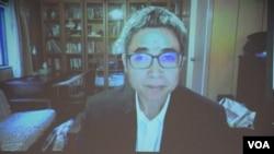 台灣中央研院社會學研究所副研究員吳介民 (美國之音湯惠芸拍攝)