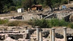Allianoi, the world's oldest known spa settlement, in Pergamon, Izmir Province, Turkey, is at risk of being submerged under water following the construction of the nearby the Yortanli Dam, which is completed but is not in operation due to the ongoing disc