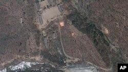 지난 4월 18일 촬영한 북한 함경북도 풍계리 핵실험장 위성 사진. 미국 '지오아이' 제공. (자료 사진)