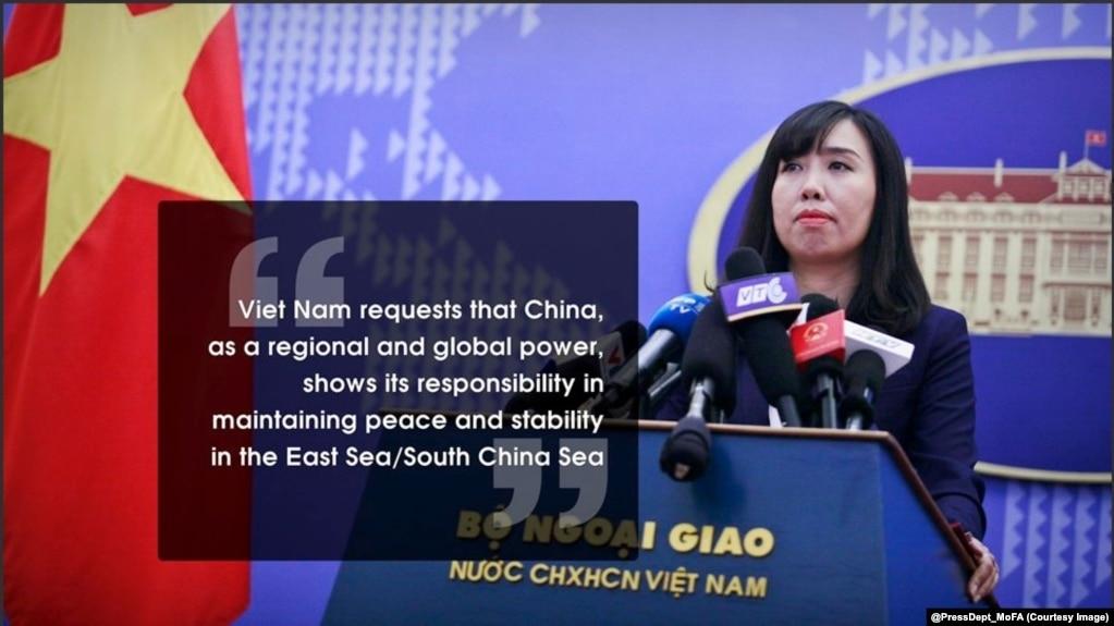 Bộ ngoại giao Việt Nam tuyên bố về biển Đông trên Twitter (@PressDept_MoFA)