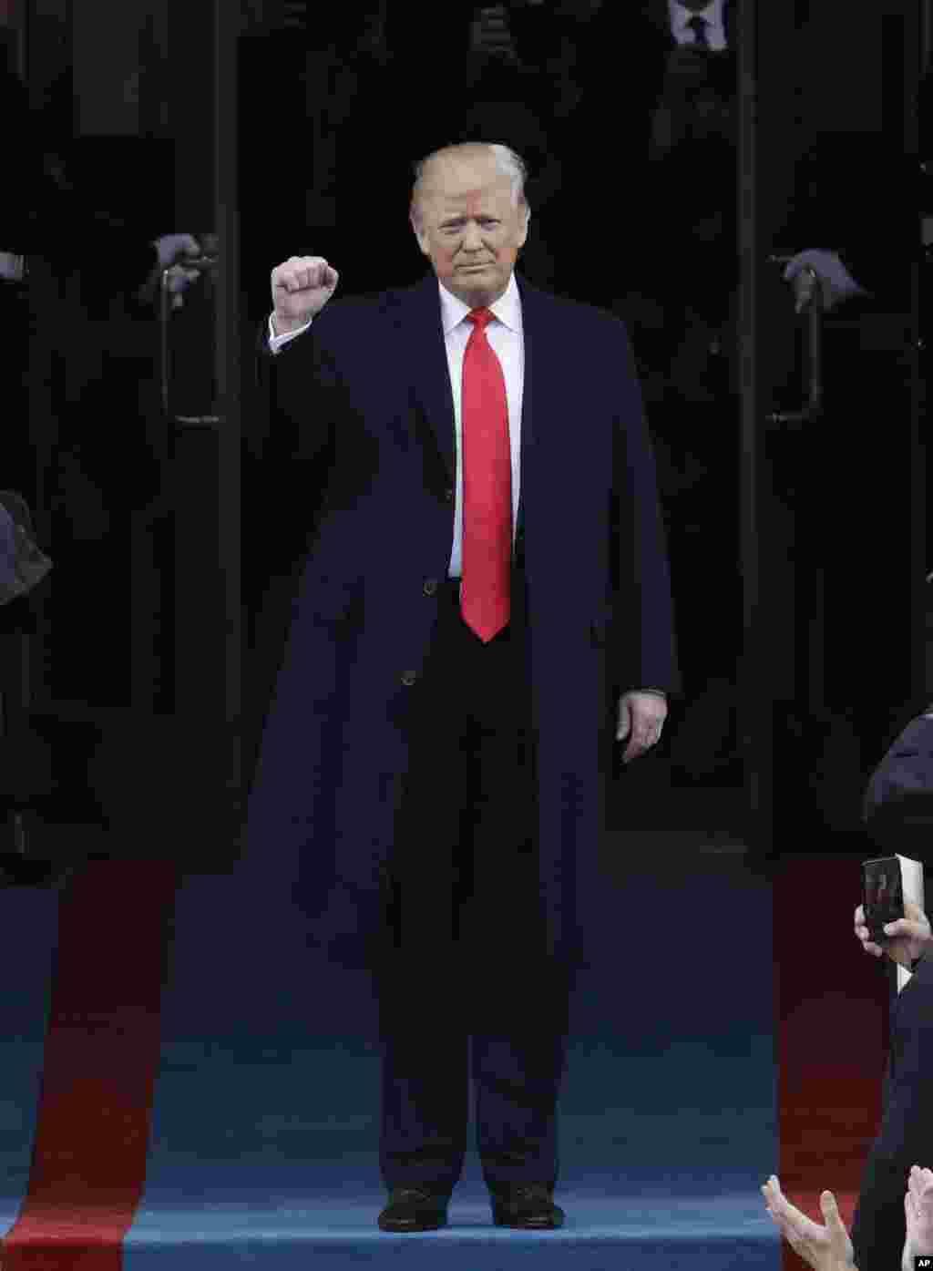 Bikin rantsar da sabon zababben shugaban Amurka Donald J. Trump, a farfajiyar Majalisa kasar dake birnin Washington DC, Janairu 20, 2017