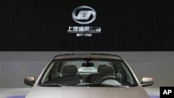 在上海国际汽车展上展出的宝骏630(资料照片)