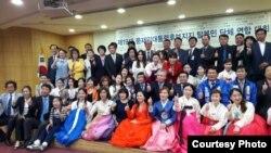 지난 4일 한국 국회의원회관 회의실에서 문재인 더불어민주당 대선후보를 지지하는 탈북민 단체 연합대회가 열렸다. 사진 제공: 안찬일 세계북한연구센터 소장.