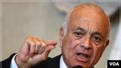 """Ketua Liga Arab, Nabil Elaraby mengusulkan penempatan penjaga perdamaian internasional ke Suriah untuk """"menerapkan gencatan senjata""""."""