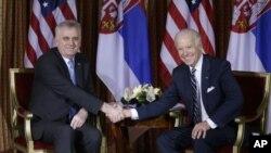 Predsednik Srbije Tomislav Nikolić i potpredsednik SAD Džo Bajden u Rimu, 18. marta 2013.