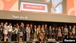 第20屆國際愛滋病會議在澳大利亞墨爾本召開,與會者靜默哀一分鐘﹐悼念馬航遇難的專家。