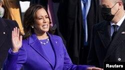 Kamala Harris is sworn in as Vice President.