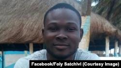 Foly Satchivi, le président de la Ligue togolaise des droits des étudiants (LTDE), arrêté en juin 2017. (Facebook/Foly Satchivi)