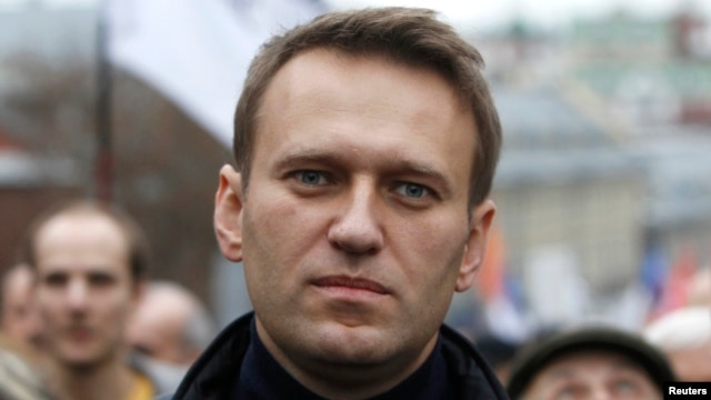 FILE - Russian opposition leader Alexei Navalny walks during an opposition rally in Moscow.