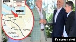 Crnogorski, albanski i hrvatski premijeri na sastanku u Crnoj Gori, 25. avgust 2014.