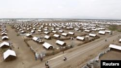 Ifoto yafashwe n'indege yerekana ikambi y'impunzi ya Kakuma muri Kenya