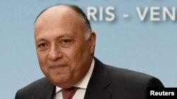 Le ministre des affaires étrangères egyptienne Sameh Choukri, 3 juin 2016.