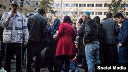 تصویری از تصادف منجر به مرگ مقابل بیمارستان سجاد تهران