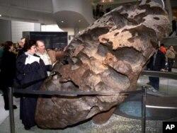 نیویارک کے ایک عجائب گھر میں موجود 34 ہزار پونڈ وزنی شہابیہ ولامیٹ