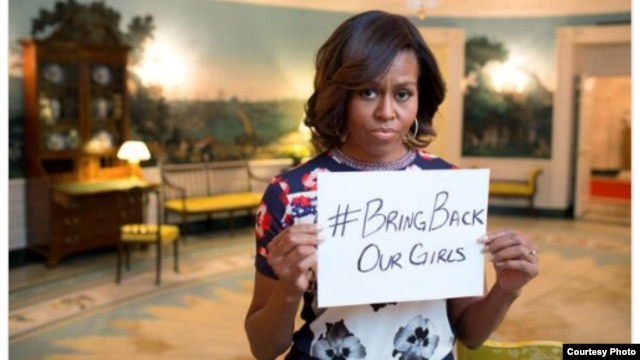 First Lady Michelle Obama's post on Twitter on abducted Nigerian schoolgirls (White House).