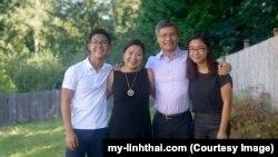 My-Linh Thai cùng chồng, Don, và hai con, đều đang là học sinh trung học ở Bellevue School District. (my-linhthai.com)