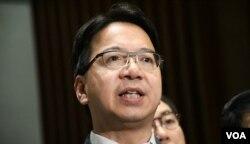香港民主派會議召集人莫乃光。(美國之音湯惠芸)