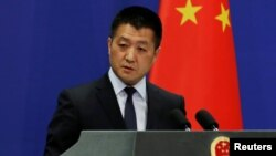 Phát ngôn viên Bộ Ngoại giao Trung Quốc Lục Khảng (ảnh tư liệu, tháng 5/2018)