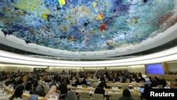 지난해 11월 스위스 제네바에서 열린 유엔 인권이사회에서 회원국들에 대한 보편적 정례 검토가 진행됐다.