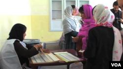 یکی از محلات رای دهی زنان
